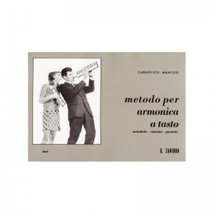 610  Metodo per armonica a tasto. Codice: GZ5019 Autore: Mancusi - Carnovich Casa Editrice: Zanibon Strumento: Melodica