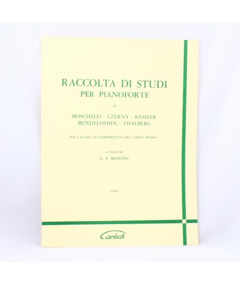 Autori vari Raccolta di studi per pianoforte per l'esame di compimento del corso medio (Moroni)