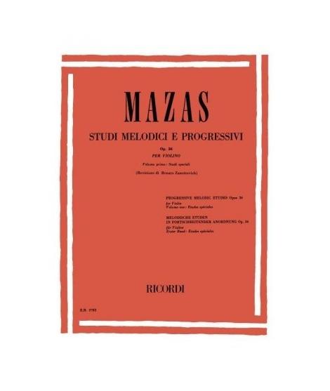 MAZAS Studi melodici e progressivi op.36 Ricordi