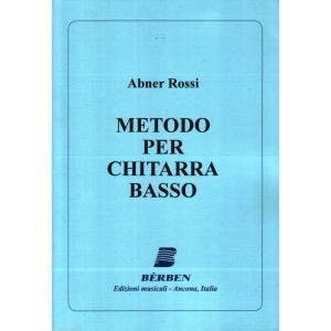 1260 NUOVA EDIZIONE ABNER ROSSI il CHITARRISTA CLASSICO BERBEN Editore