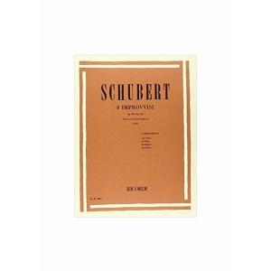 SCHUBERT : 8 IMPROVVISI OP.90 E OP.142 per pianoforte RICORDI ER2657
