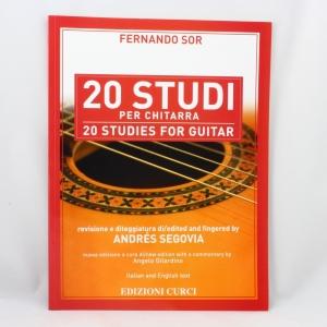 394 Condividi Fernando Sor 20 Studi per Chitarra revisione di Andrès Segovia Edizioni Curci