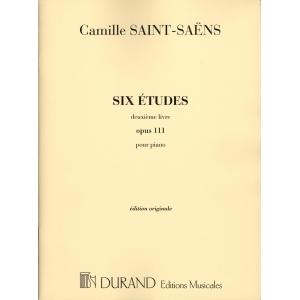 Saint-Saëns: Six Etudes, Op. 111 Editions Durand - DF5587