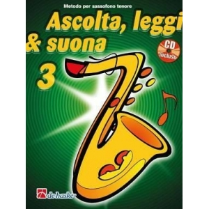 1388 Dehaske Ascolta leggi e suona vol 3 sax tenore + cd