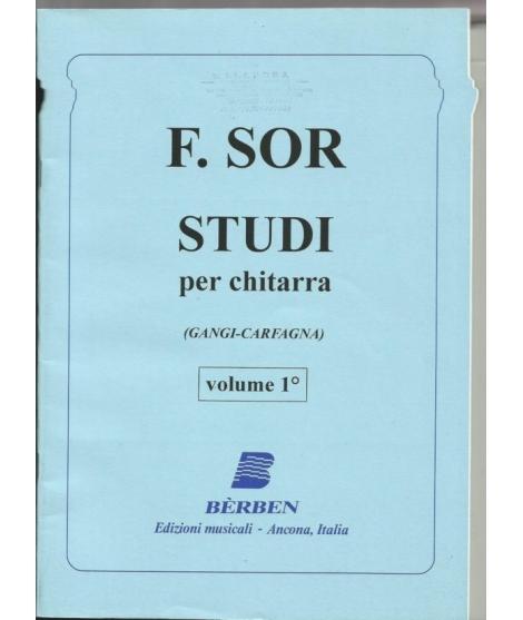 395 F. SOR STUDI PER CHITARRA VOL.1