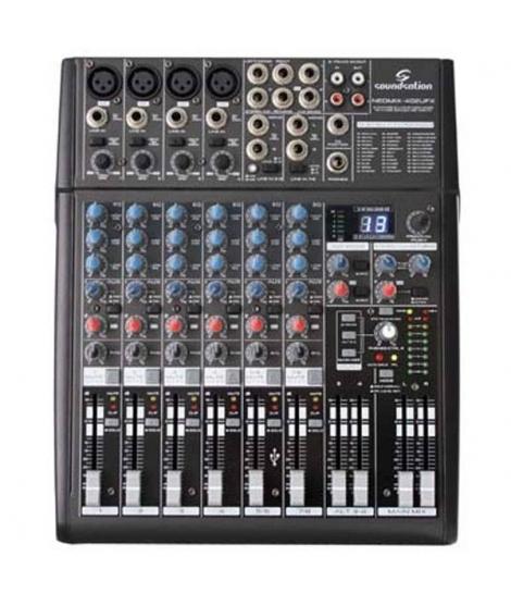 SOUNDSATION NEOMIX 402UFX MIXER CON EFFETTI E SCHEDA AUDIO USB