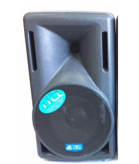 """USATA! Cassa db opera 110 lyric ,attiva e biamplificata woofer da 10""""+tweeter da 1"""" ,140+40 WATTS Peso 9 kg ,SPL 117 dB"""